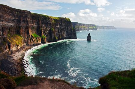 moher: photo of cliffs of moher west coast ireland