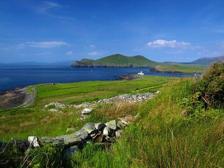 photo of a beautiful scenic irish landscape  photo
