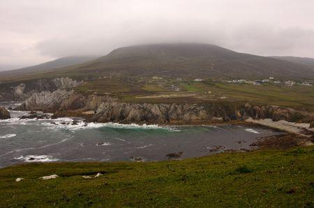 achill: photo of a beautiful scenic irish landscape