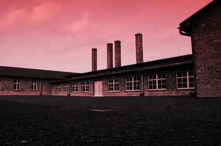 red tone over sauna Nazi Germany's concentration and extermination camps Stock Photo - 6081573