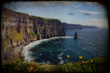 photo grunge texture beautiful scenic irish landscape Stock Photo - 6112046