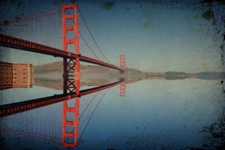 photo grunge texture golden gate bridge in san francisco Stock Photo - 6112040