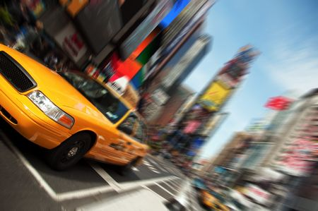 New York City Taxi, Times Square Stock Photo - 6131520