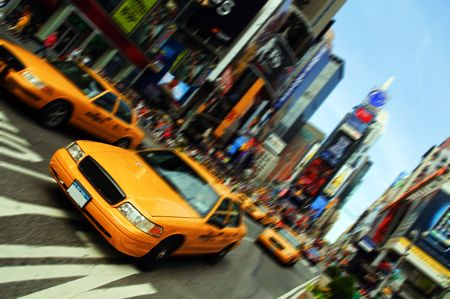 new york city times square: New York City Taxi, Times Square
