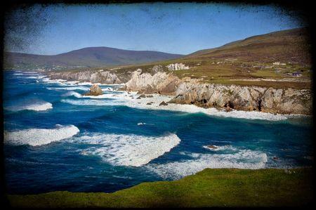 ireland grunge nature beautiful mountain and seascape Stock Photo - 6131510