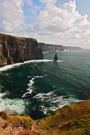 photo famous cliffs of moher on west coast of ireland photo