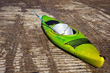 photo of kayak canoe on stone ramp outside photo