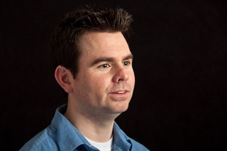 capture close up portrait maile on black background Stock Photo - 6321941
