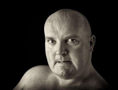 photo dark male portrait head shot angry man photo