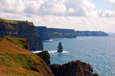 moher: photo famous cliffs of moher,sunet capture,west of ireland