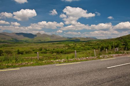 photo vibrant scenic landscape from the west of ireland photo