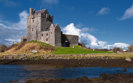 irish history: photo vibrant irish castle west of ireland Stock Photo