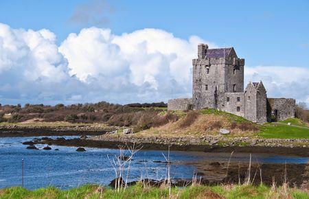 ireland: photo vibrant irish castle west of ireland Stock Photo