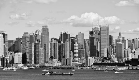 hudson river: photo new york city and skyline over hudson river