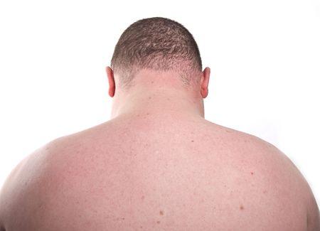the neck: foto vicino fino ritratto cattura di sovrappeso maschio