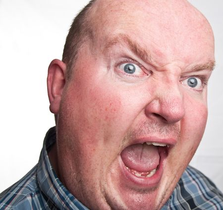 photo close up portrait capture of overweight male photo
