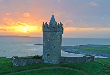photo ancient irish castle, west coast of ireland photo