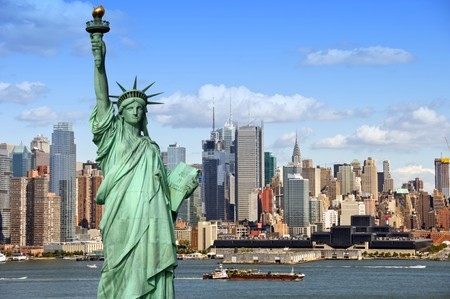 in city: paisaje urbano de Nueva york, fotografía de concepto de turismo  Foto de archivo