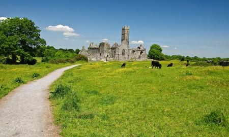 abbey ruins abbey: irish ancient church abbey ruins landscape