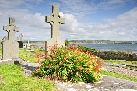 grave site: photo ancient celtic burial grave site west coast ireland