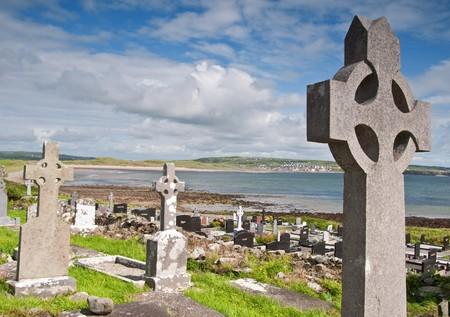 photo ancient celtic burial grave site west coast ireland photo