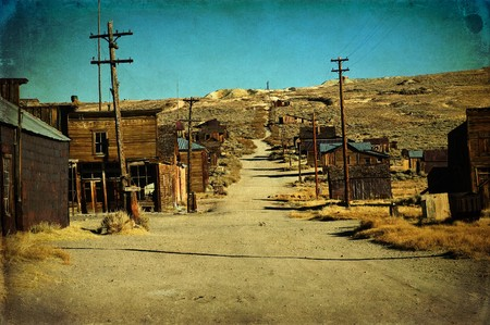 western usa: photo grunge old ghost town western usa