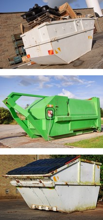 photo recycle industrial dumper skip outdoors photo