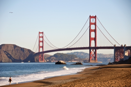 Foto San Francisco golden Gate von Baker beach Standard-Bild - 8042270