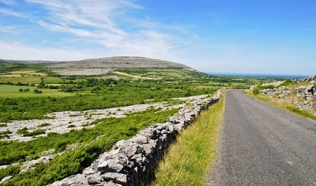 photo protected burren limestone landscape west ireland photo
