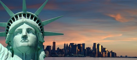 statue of liberty: photo beautiful tourism travel concept for new york city