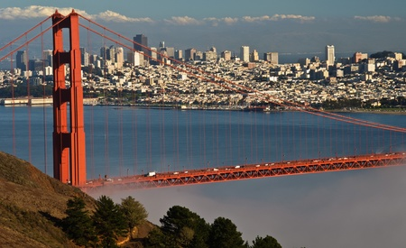 photo beautiful golden gate bridge in san francsico photo