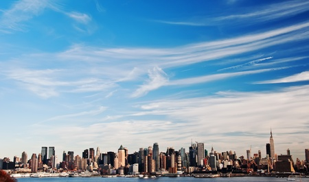 photo high contrast new york city skyline cityscape Stock Photo