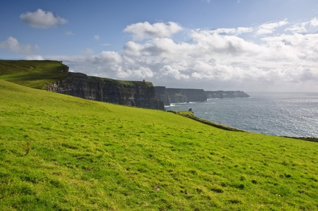moher: famous irish cliffs of moher in county clare, ireland Stock Photo