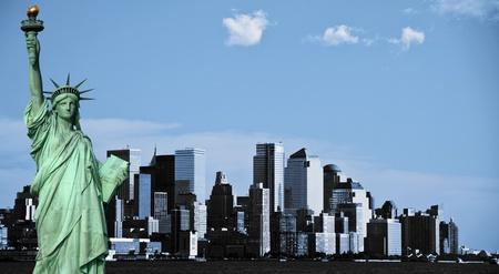photo new york city skyline, downtown nyc, usa photo