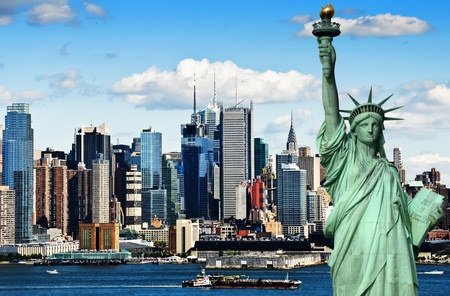 photo new york cityscape over the hudson river Standard-Bild