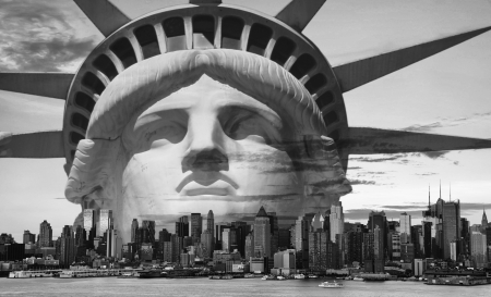 photo new york city black and white hi contrast Reklamní fotografie
