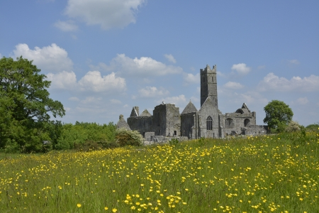 famous irish landmark, quin abbey, county clare, ireland photo