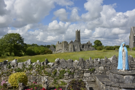 famous irish landmark, quin abbey, county clare, ireland photo