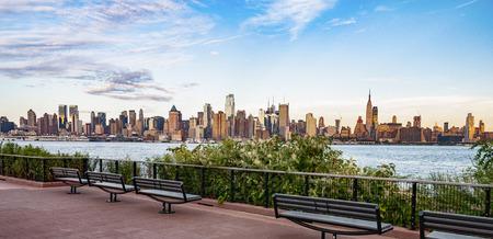 new york: NEW YORK CITY - July 28, 2015: Cityscape view of NYC, New York City, USA. Stock Photo