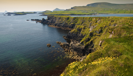 kerry: photo beautiful scenic rural landscape from ring kerry ireland
