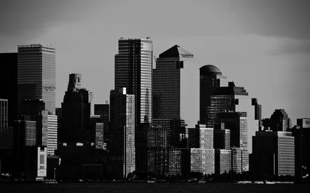 night vision: photo night green vision photograph new york downtown, nyc