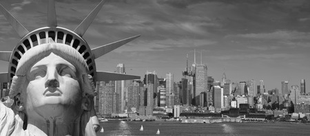 liberty torch: photo beautiful tourism travel concept for new york city