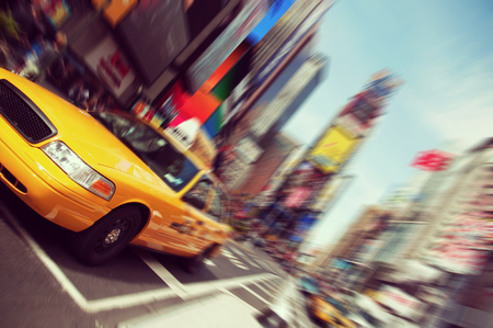 new york taxi: Vintage toned, effect filter from  New York Stock Photo