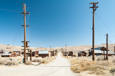 town houses: Bodie State Historic Park,  ghost town in the Bodie Hills, Mono County, California, United States.