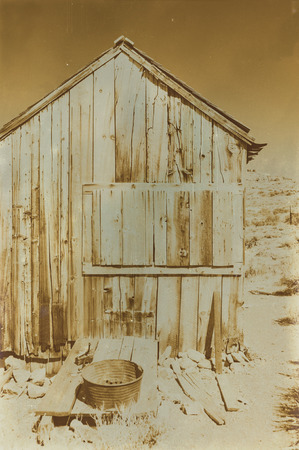 bodie: Aged sepia digital grunge distressed effect Bodie State Historic Park.