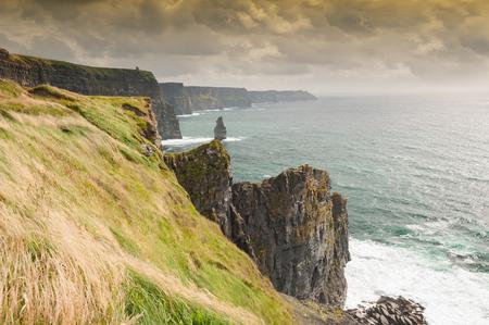 moher: Famous Scenic Cliffs Of Moher, WildAtlanticWay, County Clare, Ireland.