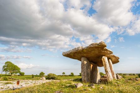 5000 years old Polnabrone Dolmen in Burren, Co. Clare - Ireland