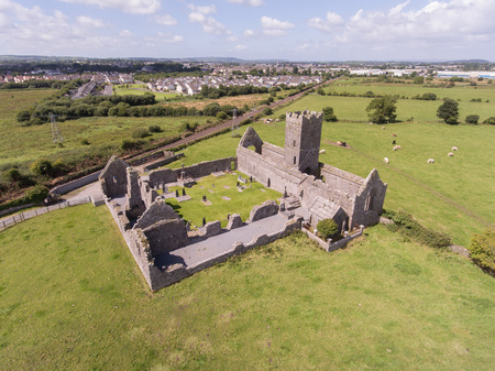 county: clare abbey ruins, county clare, ireland Stock Photo