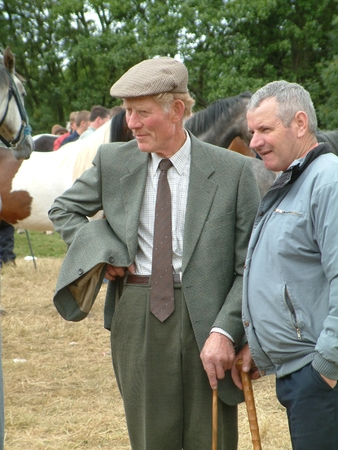 annually: Clare, IRELAND - June 23, 2016: Spancill Hill, Ireland. Spancil Hill  Horse Fair. Spancill Hill Fair, Irelands and Europes oldest historic horse fair, which occurs annually on 23 June.