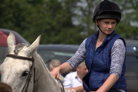 county fair: Clare, IRELAND - June 23, 2016: Spancill Hill, Ireland. Spancil Hill  Horse Fair. Spancill Hill Fair, Irelands and Europes oldest historic horse fair, which occurs annually on 23 June.